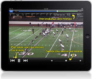 Screenshot of Hudl iPad App