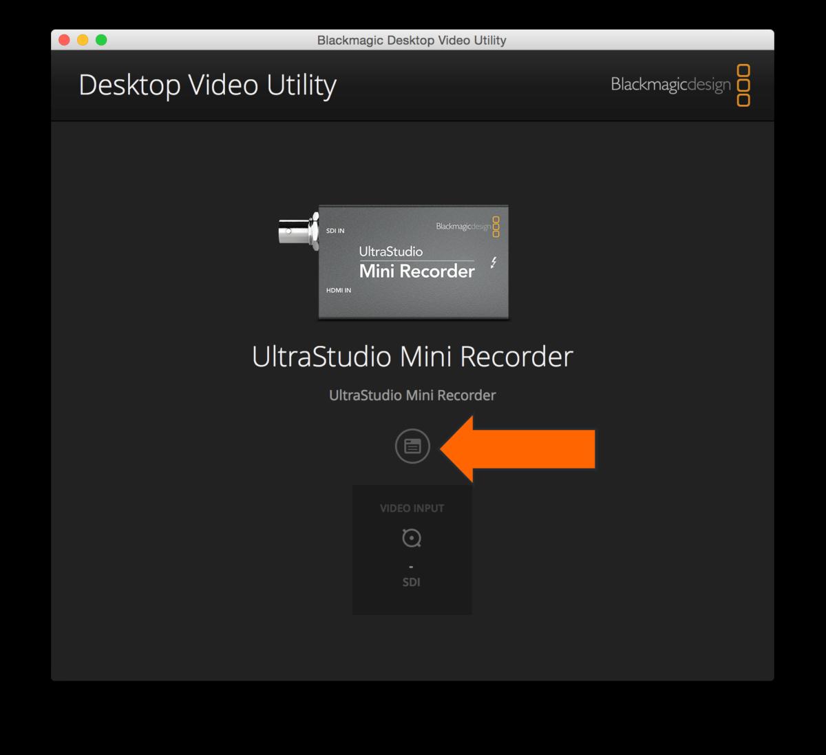 Set Up A Live Capture Blackmagic Mini Recorder Hudl Support
