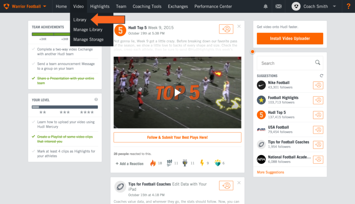 Create a Playlist | Hudl Support