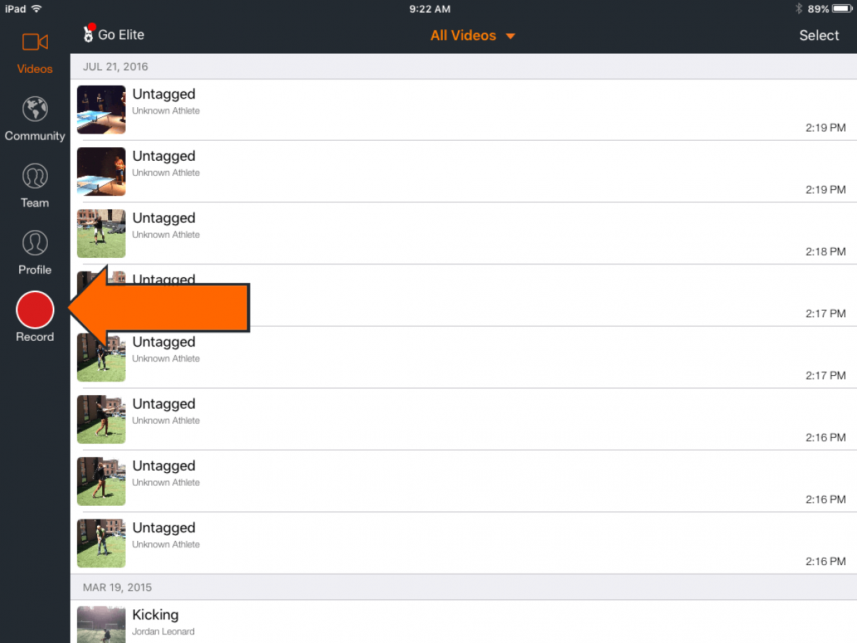Record a Video | Hudl Support