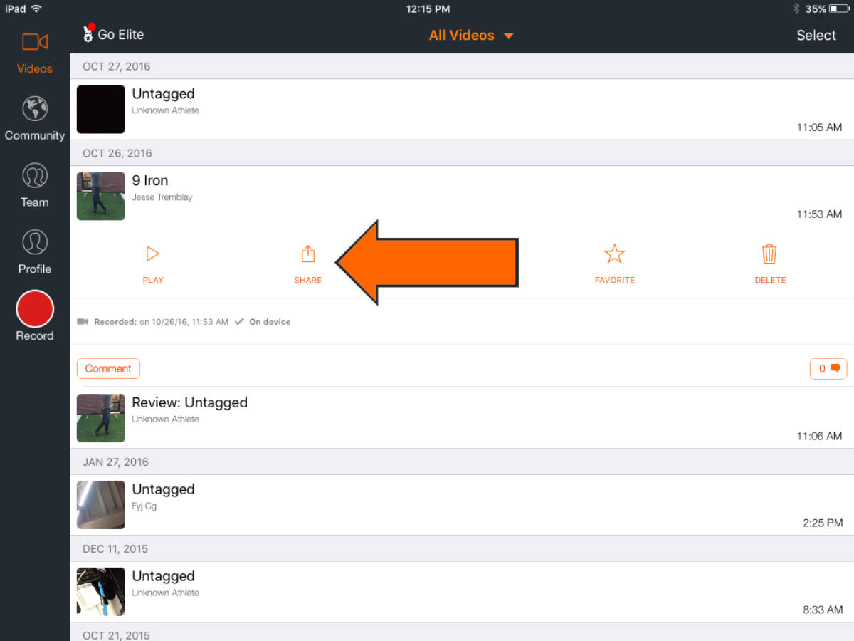 Share and Export Videos | Hudl Support